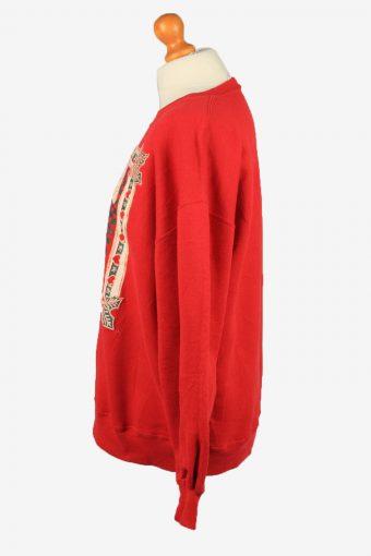 Vintage Jerzees Womens Christmas Sweatshirt Top XL Red -SW2697-149116
