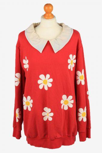 Sweatshirt Top 90s Retro College Red XXL