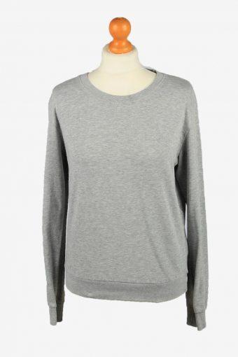 Womens Crew Neck Sweatshirt Top Grey S