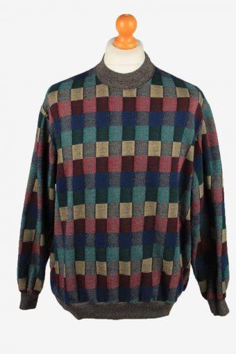 Bon Worth Mens Checked Pullover Top XL
