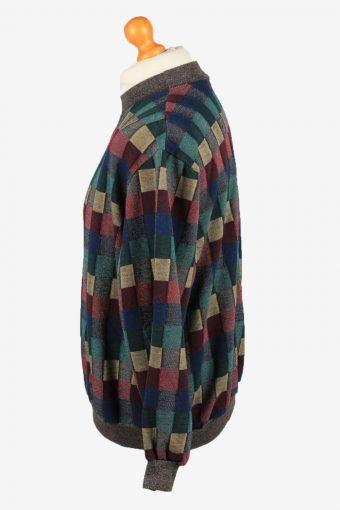 Vintage Bon Worth Mens Checked Pullover Top XL Multi -SW2713-149180