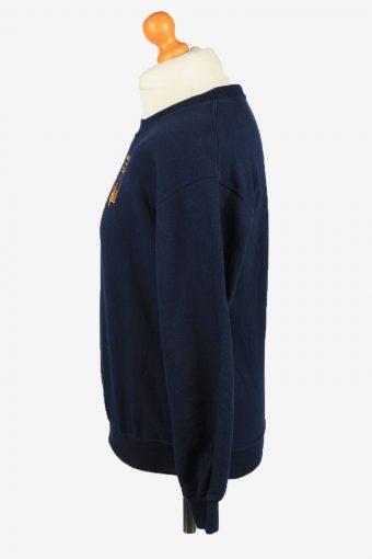 Vintage Gildan Mens College Sweatshirt Top S Navy -SW2714-149184
