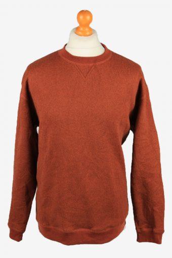 Sweatshirt Top 90s Retro College Terra Cotta M