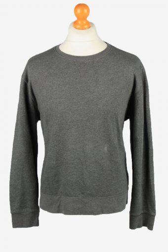 Sweatshirt Top 90s Retro College Grey XL