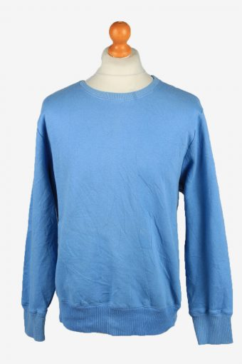 Sweatshirt Top 90s Retro College Blue 2XL