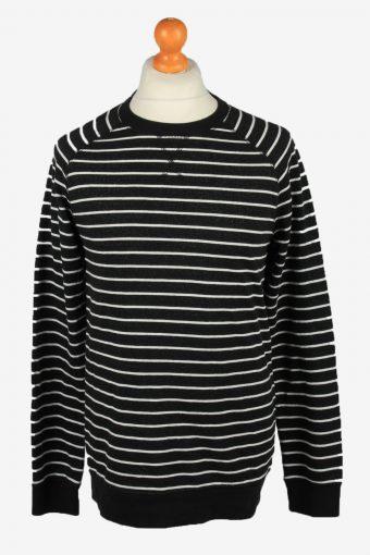 Sweatshirt Top 90s Retro College Black L