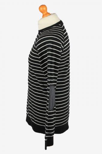 Vintage Unvibe Mens College Sweatshirt Top L Black -SW2722-149216