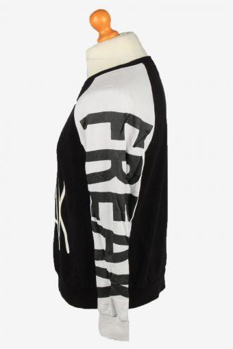 Vintage Forever 21 Mens Crew Neck Sweatshirt Top S Black -SW2723-149220