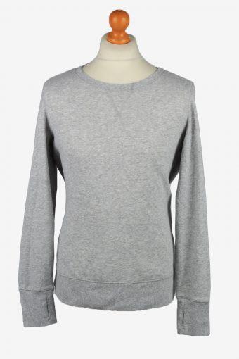 Sweatshirt Top 90s Retro College Grey L