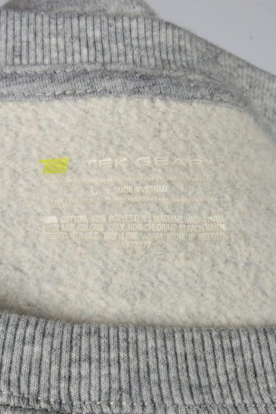 Vintage Tek Gear Mens College Sweatshirt Top L Grey -SW2724-149226