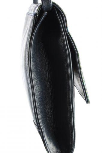 Leather Snake Pattern Shoulder Bag Womens Vintage 1970s Navy -BG1165-152671
