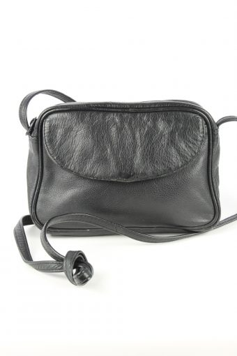 Leather Mini Shoulder Bag Womens Vintage 1970s Black