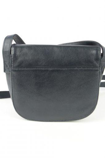 Leather Mini Shoulder Bag Womens Vintage 1980s Navy -BG1170-152691