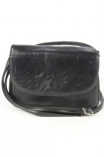 Leather Mini Shoulder Bag Womens Vintage 1980s Black