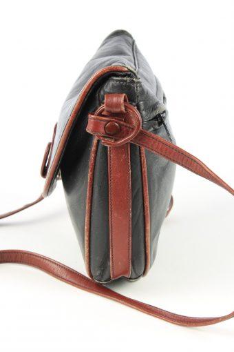 Leather Mini Shoulder Bag Womens Vintage 1980s Black -BG1174-152707