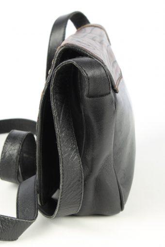 Leather Mini Shoulder Bag Womens Vintage 1980s Black -BG1175-152711