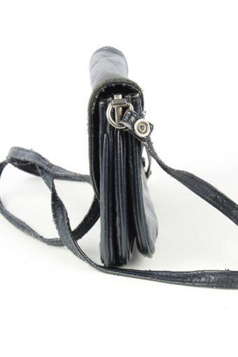 Leather Mini Shoulder Bag Womens Vintage 1980s Black -BG1176-152715