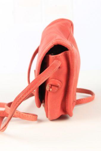 Leather Mini Shoulder Bag Womens Vintage 1980s Red -BG1183-152743