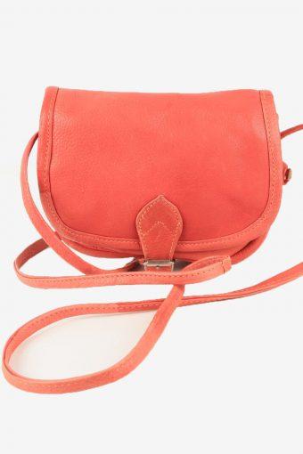 Leather Mini Shoulder Bag Womens Vintage 1980s Red