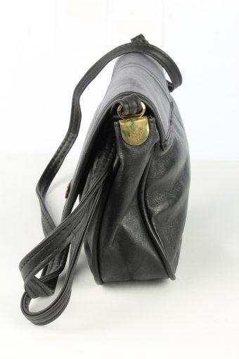 Leather Shoulder Bag Womens Vintage 1980s Black -BG1185-152751