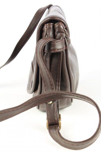 Leather Shoulder Bag Womens Vintage 1980s Brown -BG1186-152755
