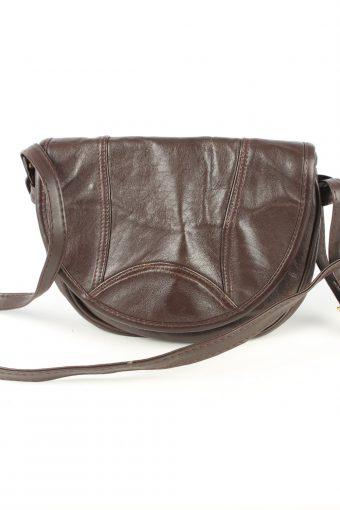 Leather Shoulder Bag Womens Vintage 1980s Brown