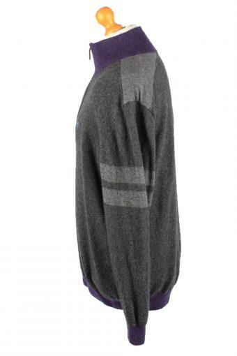 Pierre Cardin Zip Neck Jumper Sweater Vintage Mens 60 Grey -IL2338-152309