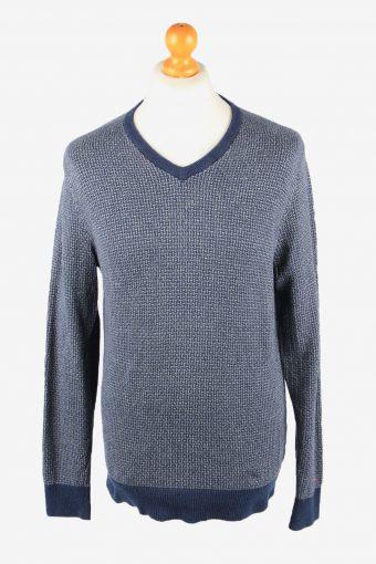 Tommy Hilfiger V Neck Jumper Sweater Mens Cashmere Mix Grey Marl L