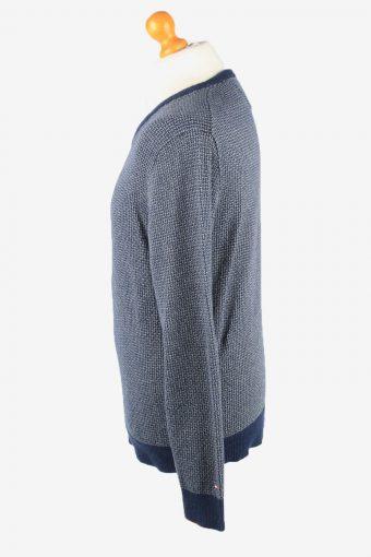 Tommy Hilfiger V Neck Jumper Sweater Vintage Mens L Grey Marl -IL2340-152317