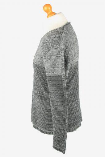 Armani V Neck Jumper Sweater Vintage Mens L Grey -IL2347-152345
