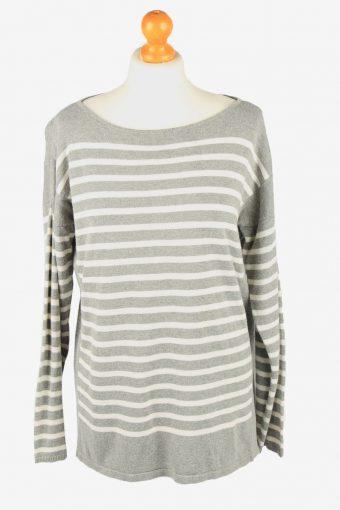 Chaps Wide Neck Jumper Sweater Vintage Womens Grey L