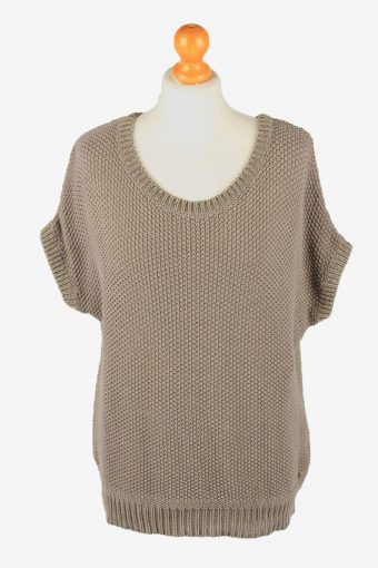 Marc O'polo Short Sleeve Jumper Sweater Vintage Womens Brown XL