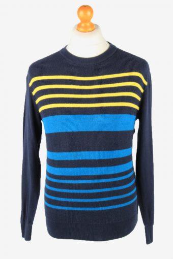 Tommy Hilfiger Crew Neck Jumper Sweater Vintage Mens Navy XS