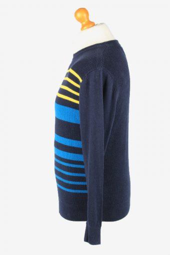 Tommy Hilfiger Crew Neck Jumper Sweater Vintage Mens XS Navy -IL2360-152397