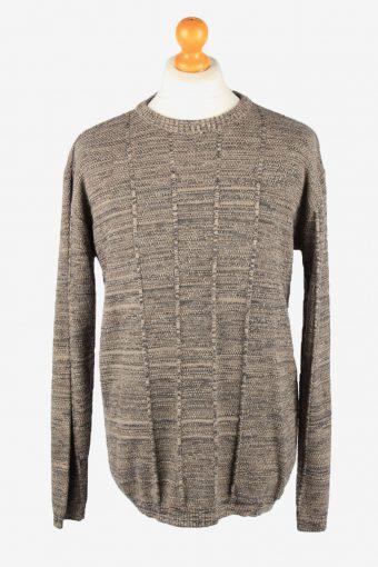 Armani Crew Neck Jumper Sweater Mens 90s Brown XXXL