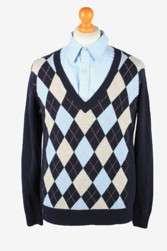 Gant V Neck Jumper Sweater Mens 90s Navy XXL