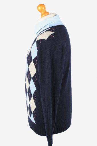 Gant V Neck Jumper Sweater Vintage Mens XXL Navy -IL2362-152405