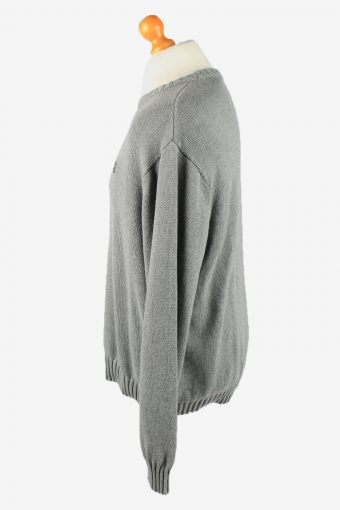 Chaps Crew Neck Jumper Pullover Vintage Mens XXL Grey -IL2369-152444