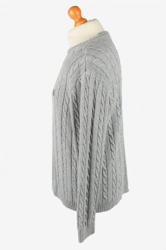 Chaps Crew Neck Jumper Pullover Vintage Mens L Grey -IL2370-152448