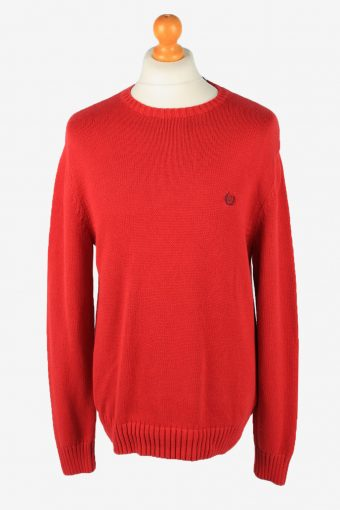 Chaps Crew Neck Jumper Pullover 90s Mens Red L