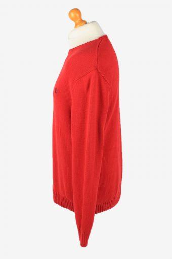 Chaps Crew Neck Jumper Pullover Vintage Mens L Red -IL2372-152456