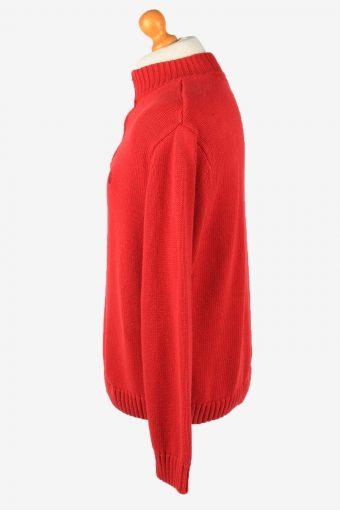 Chaps Zip Neck Jumper Pullover Vintage Mens XL Red -IL2374-152464