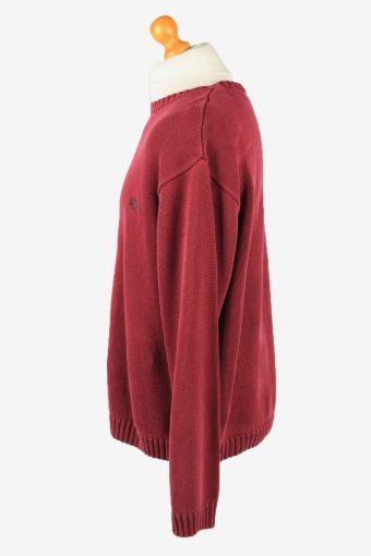 Chaps Crew Neck Jumper Pullover Vintage Mens XXL Bordeaux -IL2376-152472