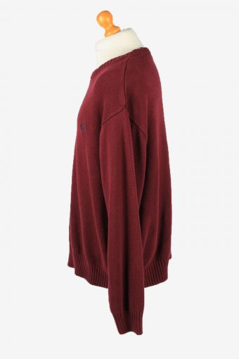 Chaps Crew Neck Jumper Pullover Vintage Mens XXL Bordeaux -IL2377-152476