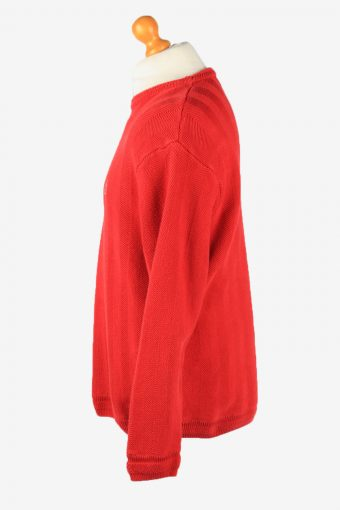 Chaps Crew Neck Jumper Pullover Vintage Mens L Red -IL2378-152480