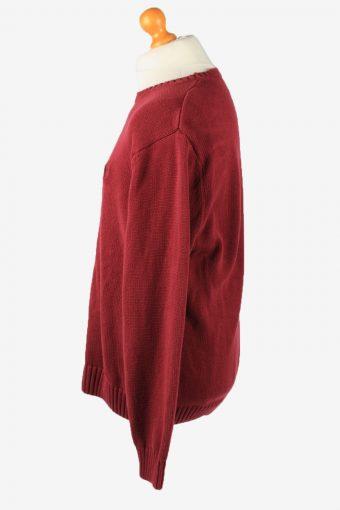 Chaps Crew Neck Jumper Pullover Vintage Mens XL Bordeaux -IL2379-152484