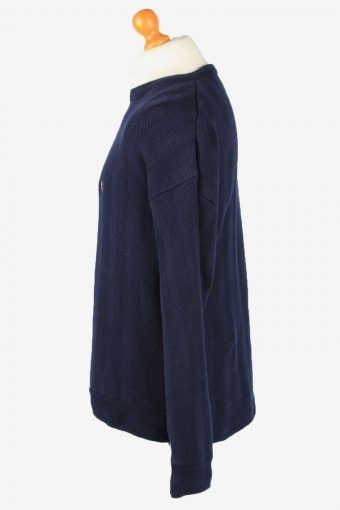 Chaps Crew Neck Jumper Pullover Vintage Mens L Navy -IL2387-152516