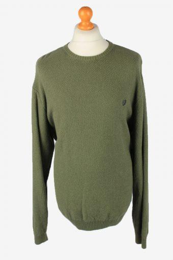 Chaps Crew Neck Jumper Pullover 90s Mens Green XL