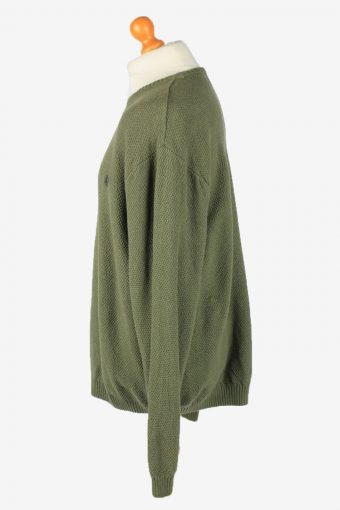 Chaps Crew Neck Jumper Pullover Vintage Mens XL Green -IL2393-152540