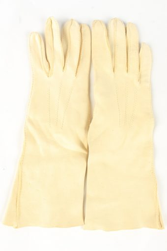 Dress Gloves Vintage Womens 6 in Beige